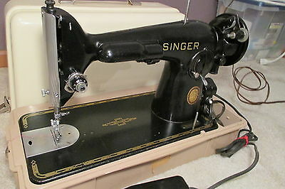 1953 Singer 201 Sewing Machine 201-2 Direct Drive Drive Industrial Sew Leather