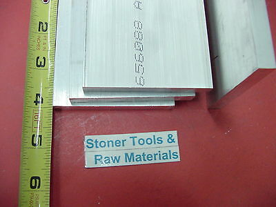 """4 pieces 1/4"""" X 3"""" ALUMINUM 6061 FLAT BAR 4"""" long T6511 SOLID Plate Mill Stock"""