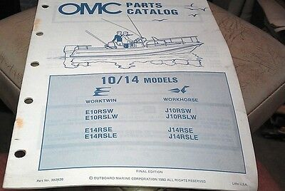 1982 JOHNSON Evinrude OMC Outboard Factory Parts Book - 10 & 14hp