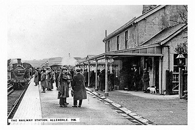 pt1903 - Allendale Railway Station , Northumberland - photograph 6x4