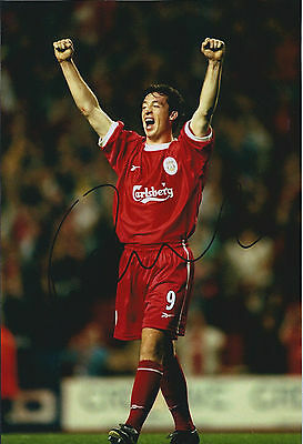 Robbie FOWLER Signed Autograph Celebration Photo AFTAL COA Liverpool Anfield