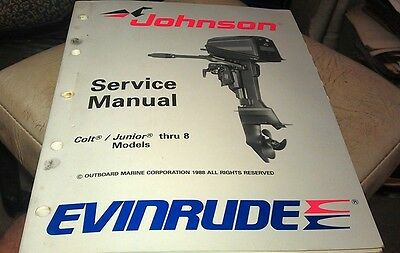 1988 JOHNSON Evinrude  Outboard Factory Service Manual - Colt Junior thru 8hp