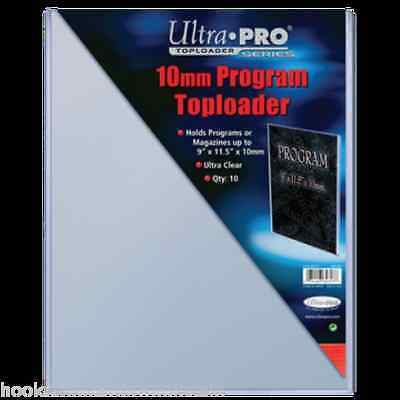 1 Pack (10) Ultra Pro 9 x 11.5 x 10mm Thick Magazine Program Topload Holder