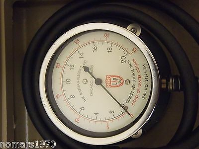 Rego BASTIAN BLESSING LP Gas Test Gauge, Inches Water Column, OZ. Per Sq. Inch