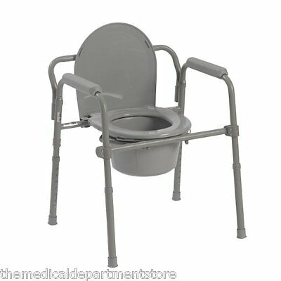 Drive Medical Portable Bedside Commode Toilet Safety Frame Support - 11148-1