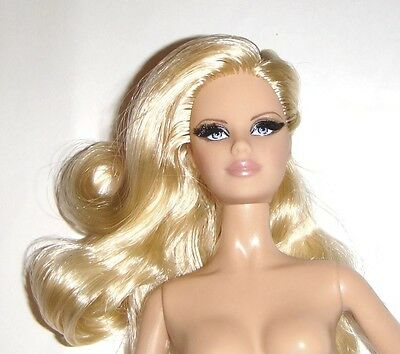 Nude Barbie Long Curly Blonde Nude Model Muse Barbie Doll mn131