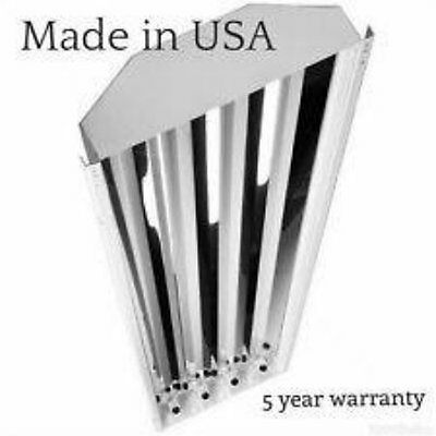 (Includes Bulbs) 4 Lamp T5 High Output Low Bay Fluorescent Fixture