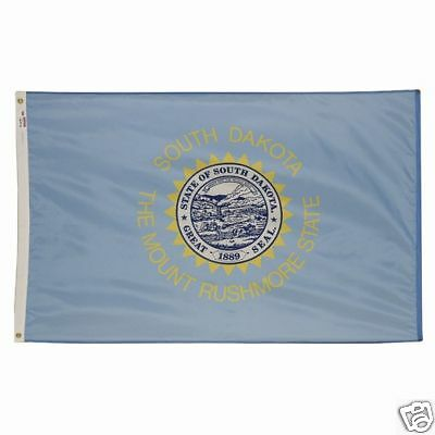 5x8 ft SOUTH DAKOTA Mount Rushmore State OFFICIAL FLAG OUTDOOR NYLON MADE IN USA