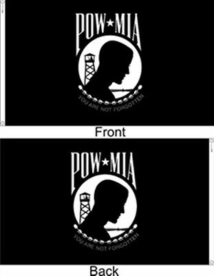 5x8 ft POW MIA DOUBLE SIDED SEAL MILITARY FLAG OUTDOOR NYLON Made in USA