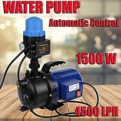 NEW Water Pump 1200W Automatic Control Switch Tank Pressure Pump Garden House