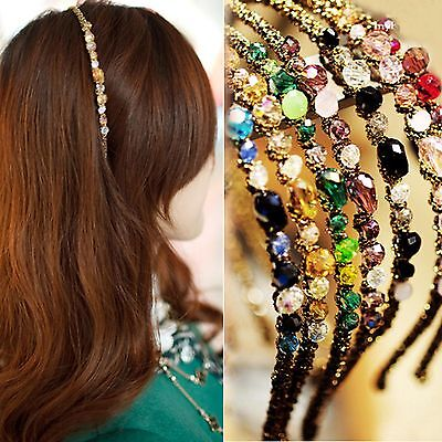 Newest Women Exquisite Crystal Rhinestone Barrette Hair Band Hair Accessory