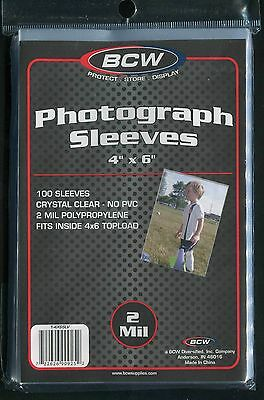 500 BCW 4 x 6 Photo Protective Sleeves
