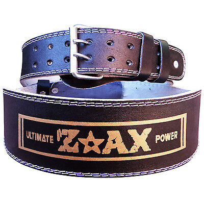 """4"""" WIDE Leather Weight Lifting Belt Gym Exercise Back Support Body Building Belt"""