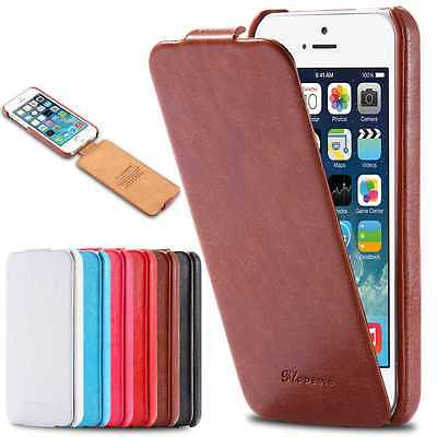 Vintage Leather Case Flip Pouch Hard Slim Cover Skin for iPhone 7/7+ Samsung HTC