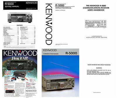 OM + SM MANUALS + DOCUMENTS for the KENWOOD R-5000 PHOTOCOPY IN A 3 RING BINDER