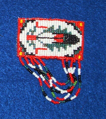 Girls Barrette Fringed Eagle Feather design Authentic Native American made DC3
