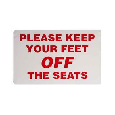 PLEASE KEEP YOUR FEET OFF THE SEATS - Taxi Window Sticker
