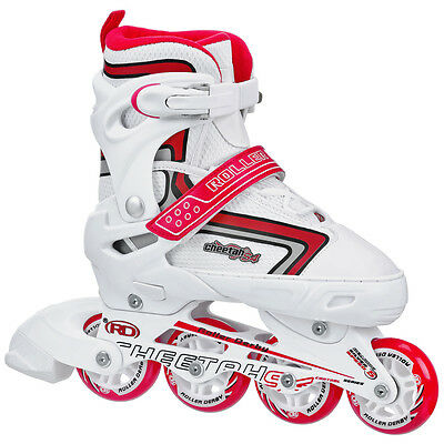 Roller Derby Cheetah Adjustable Inline Skates/Rollerblades Kids/Girls US3-6