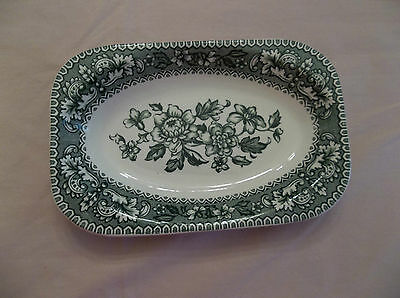 Wood & Sons RELISH TRAY DISH Green Transferware WESTMINSTER Made England