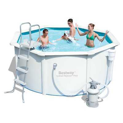 Bestway HYDRIUM NEPTUNE Strong Steel Wall Above Ground Swimming Pool with Sand F