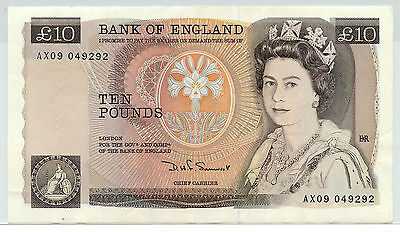 England Great Britain 10 Pound Series D Sommerset Bank of England Note