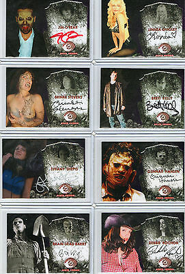 Terror Cards XL Scream Queens & Directors Autograph Card Selection NM Necroscope