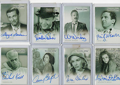 The Twilight Zone Autograph Card Selection NM Rittenhouse Archives