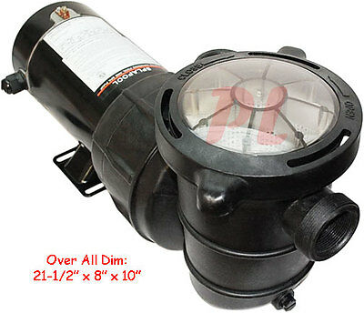1.5HP POOL SPA PUMP Water Swimming In Above Ground w/ Filter 4980GPH 115V -Small