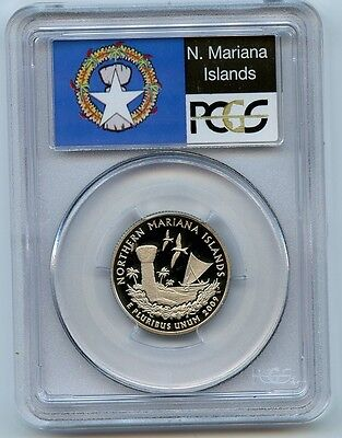 2009S US Territories Northern Marianas Is Quarter PCGS Graded PR69 DCAM 25 Cents