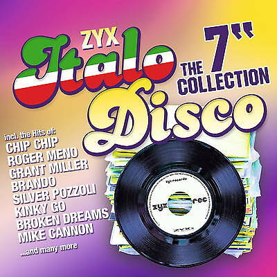 CD ZYX ITALO DISCO The 7 Inch Collection by Various Artists 2CDs with Chip Chip