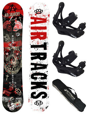 AIRTRACKS Snowboard Set: Air Anarchy Rocker+Softbindung Savage+Bag/152 156 159/
