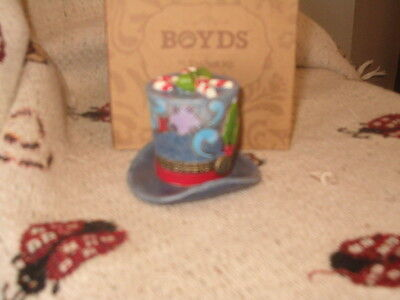 Boyds Bears Treasure Box Jim Shore Klondikes's Top Hat New Mint