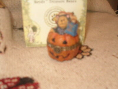 Boyds Bears Treasure Box Whisker's Jack-O-Lantern 1st Edition Retired