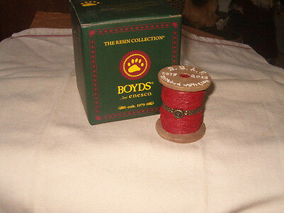 Boyds Bears Treasure Box Peg's Spool of Thread 1st Edition