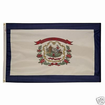 5x8 ft WEST VIRGINIA The Mountain State OFFICIAL FLAG OUTDOOR NYLON MADE IN USA