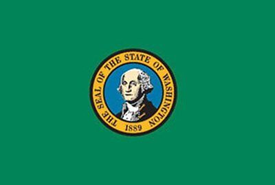 4x6 ft WASHINGTON The Evergreen State OFFICIAL FLAG OUTDOOR NYLON MADE IN USA