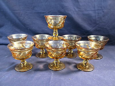 "Set of (8) Fostoria Jamestown Amber 4 1/8"" Sherbets Excellent Condition"