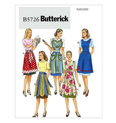 Sew & Make Butterick B5726 SEWING PATTERN - Vintage Style HOMEMAKER COOK Aprons