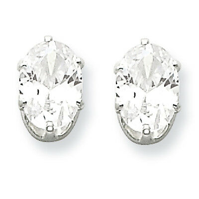 Sterling Silver 6x3 Marquise Stud Earrings