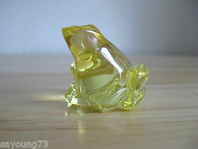 Miniature Tree Frog Figurine by Baccarat of France - Yellow - French Crystal