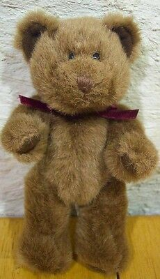 "Russ BROWN JOINTED TEDDY BEAR 7"" Plush STUFFED ANIMAL Toy"