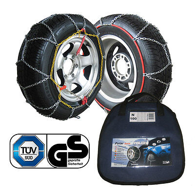 Polar 9mm Car Snow Chains for 195/55 r15 Tyre Size Easy Fit Winter Driving Pair