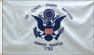 3x5 ft US COAST GUARD Official Retired Flag 1790 SEMPER PARATUS MADE IN USA