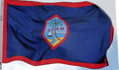 5x8 ft GUAM OFFICIAL TERRITORY FLAG OUTDOOR PRINT NYLON MADE IN USA