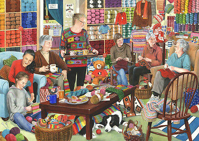 The House Of Puzzles - 1000 PIECE JIGSAW PUZZLE - Knit & Natter