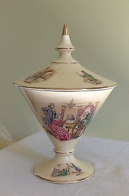 Royal Winton GRIMWADES Covered Compote GORDON England Fragonard Gilded