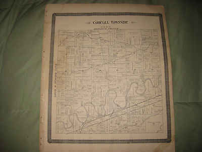 ANTIQUE 1892 CARRYALL WASHINGTON TOWNSHIP ANTWERP PAULDING COUNTY OHIO MAP NR