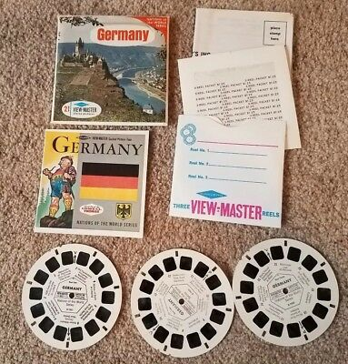 Germany View-Master B 193 w/ stamp coin 3 reel