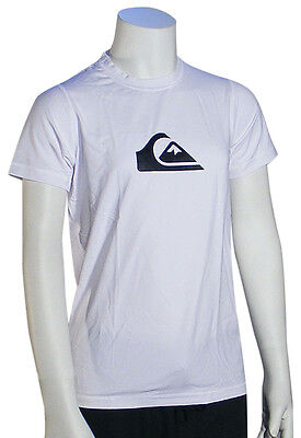 Quiksilver Boy's Solid Streak SS Surf Shirt - White - New