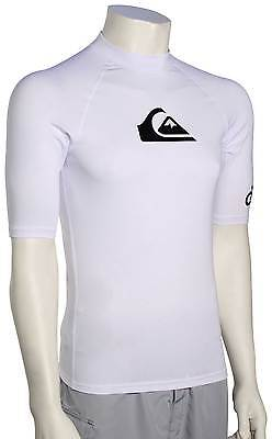 Quiksilver All Time SS Rash Guard - White - New